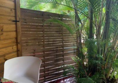 Double terrasse sur piscine en position fermée